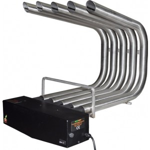 FIREPLACE HEATER BLOWER ST.STEEL , SMALL SIZE