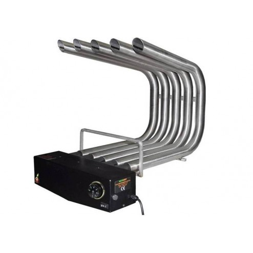 FIREPLACE HEATER BLOWER ST.STEEL WITH THERMOSTAT & FILTER, MEDIUM SIZE