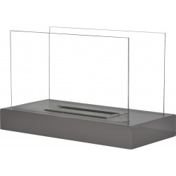 TABLE BIOETHANOL FIREPLACE 2 GLASSES GREY 30X60X38cm