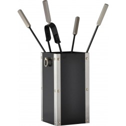 SQUARE BUCKET BLACK FOR FIREPLACE TOOL SET
