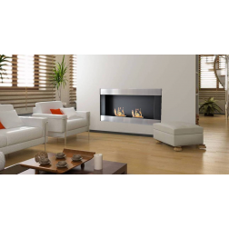 BIOETHANOL FRAME FIREPLACE WALL-MOUNTED 115X15.5X62 ST.STEEL-BLACK