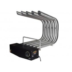 FIREPLACE HEATER BLOWER ST.STEEL WITH THERMOSTAT & FILTER, SMALL SIZE