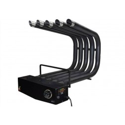 FIREPLACE HEATER BLOWER ST.STEEL PAINTED BLACK WITH THERMOSTAT & FILTER, MEDIUM SIZE