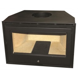 CLOSED INSERT FIREPLACE METAL GLASS 80cm
