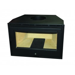 CLOSED INSERT FIREPLACE METAL GLASS 70cm