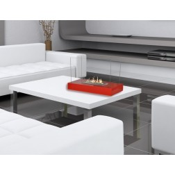 TABLE BIOETHANOL FIREPLACE 2 GLASSES RED 30X60X38cm