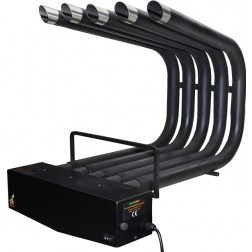 FIREPLACE HEATER BLOWER ST.STEEL PAINTED BLACK, SMALL SIZE
